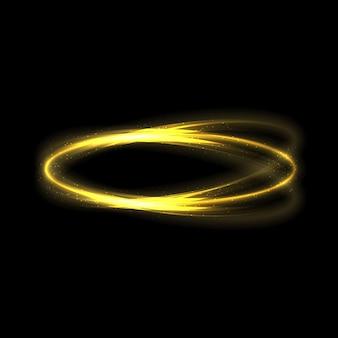 Las estrellas de efecto de luz de brillo dorado estallan con destellos aislados