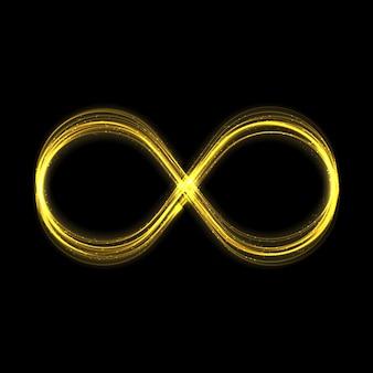 Las estrellas de efecto de luz de brillo infinito dorado estallan con destellos isola