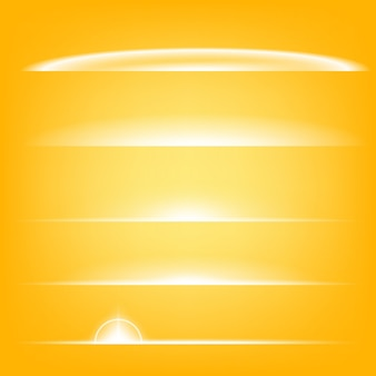 Las estrellas de efecto de luz resplandor estallan con destellos.