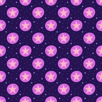 Estrellas. espacio, cielo nocturno plano de patrones sin fisuras