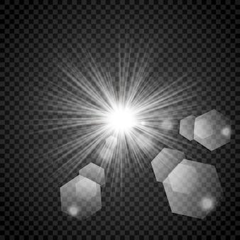 Estrellas sobre un fondo blanco y gris transparente en un tablero de ajedrez.