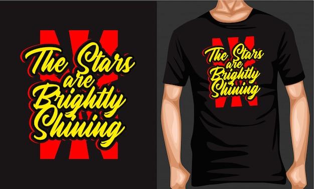 Las estrellas son tipografía de letras brillantemente brillantes