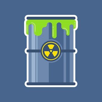 Estro de un barril de residuos nucleares.