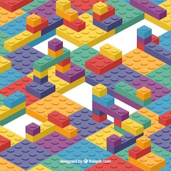 Estructura de bloques multicolor