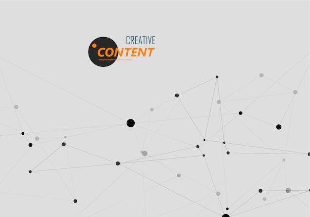 Estructura de conexión y fondo abstracto de red
