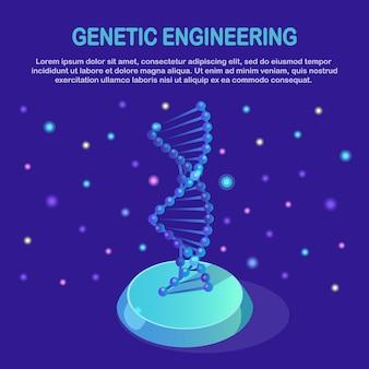 Estructura isométrica del adn. concepto de ciencia biotecnología