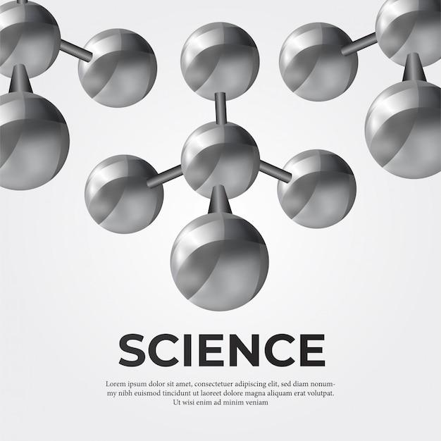 Estructura de la molécula de metal para la ciencia