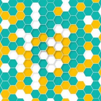 Estructura de la molécula tecnología abstracta
