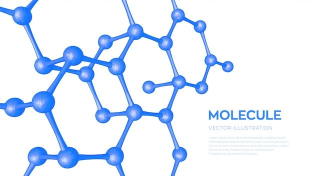 Estructura molecular. adn, átomo, neuronas. moléculas y fórmulas químicas.