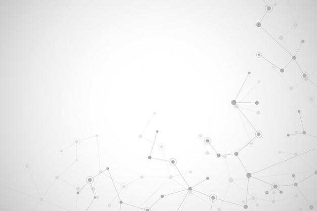 Estructura molecular de fondo y comunicación.