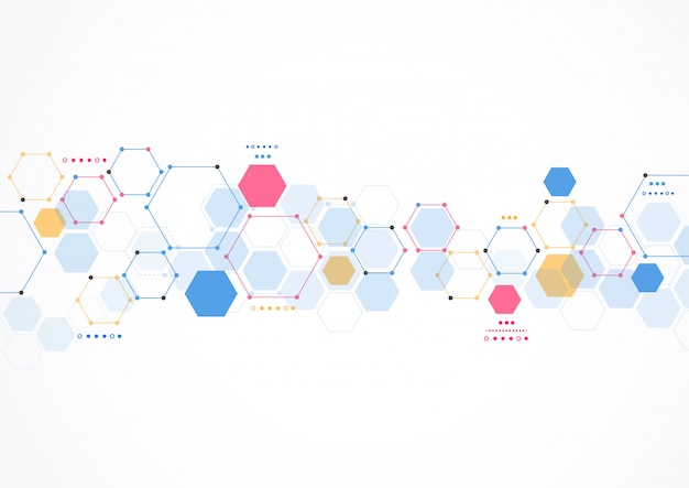 Estructura molecular resumen de antecedentes de tecnología. diseño medico