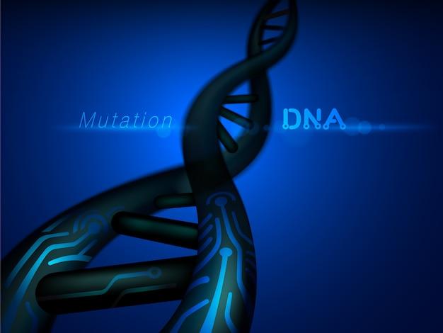 Estructura de mutación de adn digital.