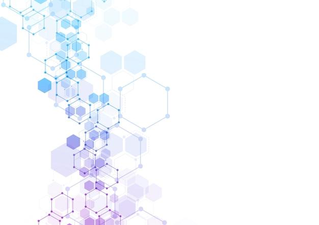 Estructuras moleculares hexagonales abstractas