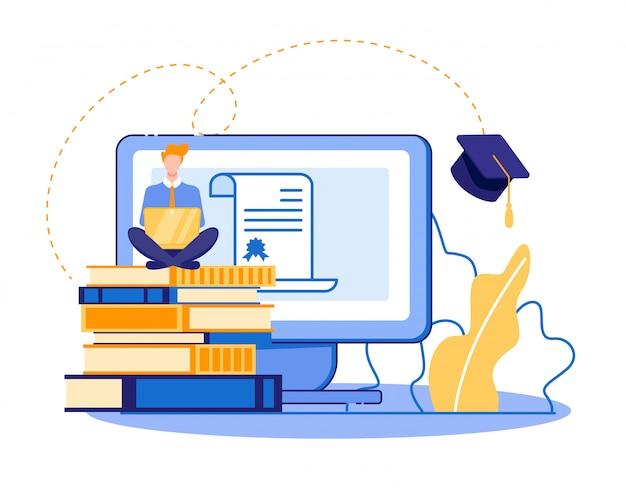 Estudiante decidido, estudiando para obtener profesión