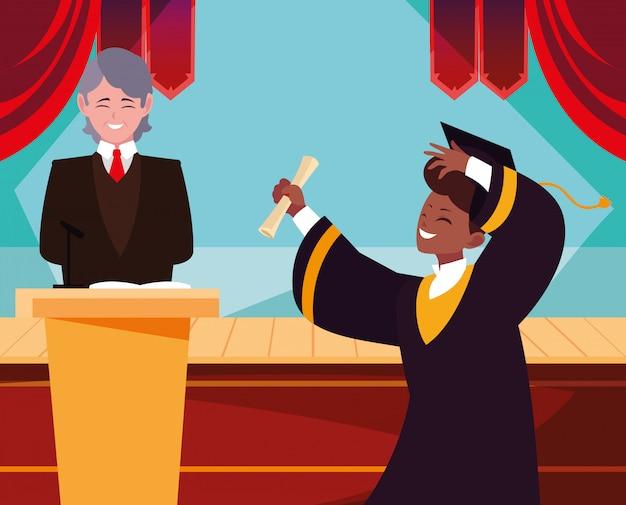 Estudiante graduado en celebración