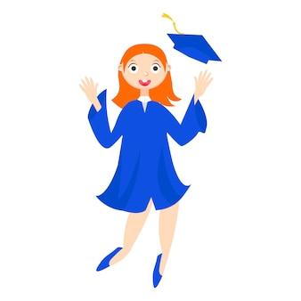 Un estudiante graduado con un diploma.