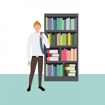 Estudiante con libros