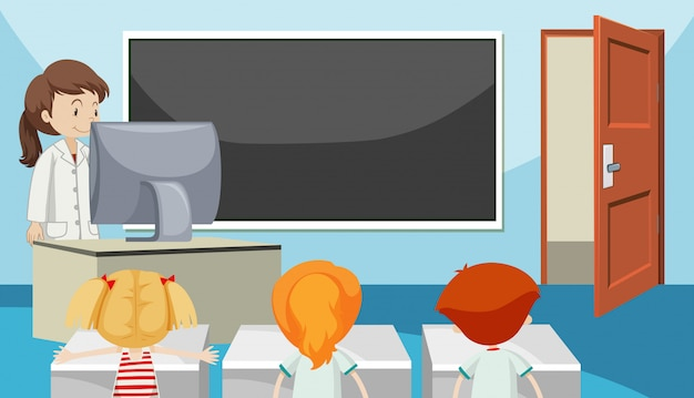 Estudiantes en aula