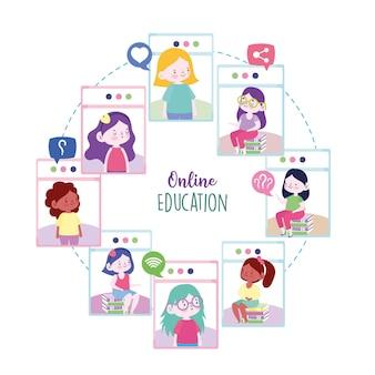 Estudiantes de educación en línea