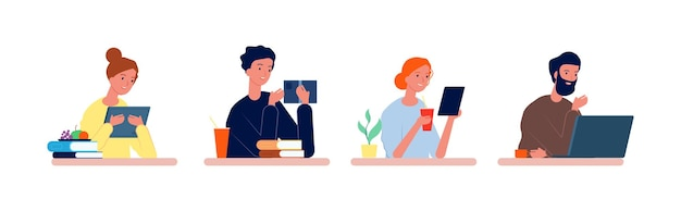 Estudiantes en el escritorio