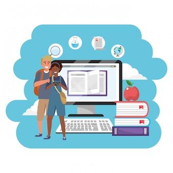 Estudiantes millennials de educación en línea