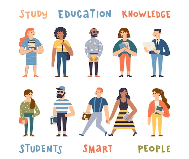 Estudiantes multiculturales. personas con libros y portátiles.