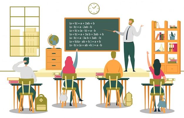 Estudiantes universitarios escuchan conferencias de profesores.
