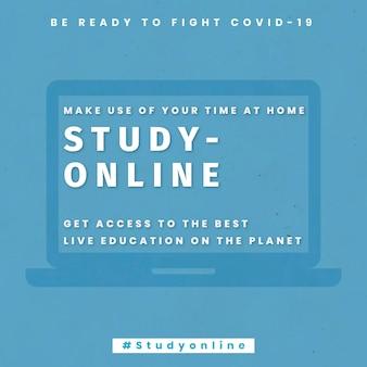 Estudie en línea obtenga acceso a la mejor plantilla de educación en vivo