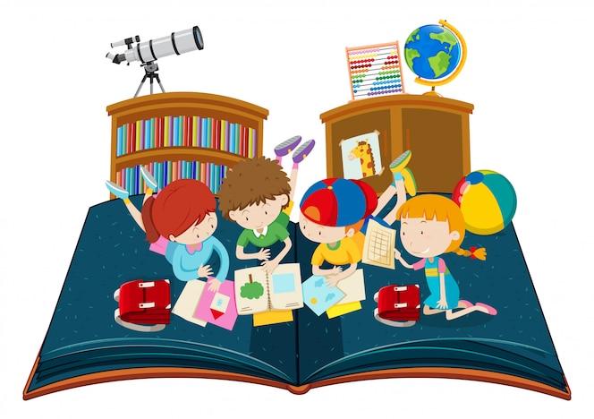 Estudio del alumno en el libro emergente del aula