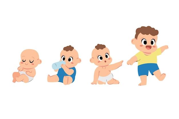 Etapas de diseño plano de un bebé