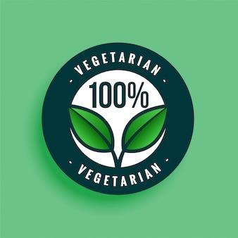 Etiqueta 100% vegetariana