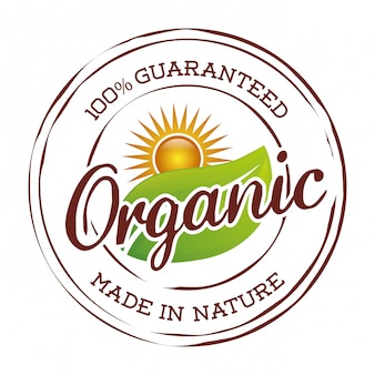Etiqueta de alimentos naturales orgánicos