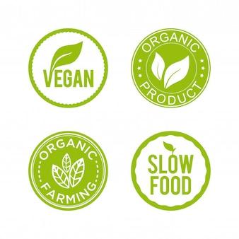 Etiqueta de alimentos saludables