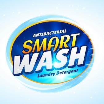Etiqueta azul claro para detergente