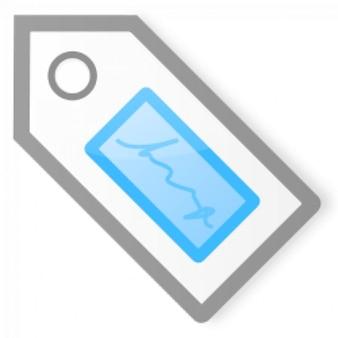 Etiqueta azul