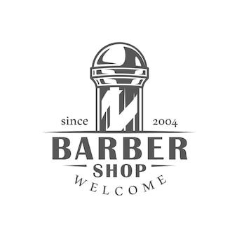 Etiqueta de barbería aislada