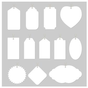 Etiqueta blanca de diseño vectorial
