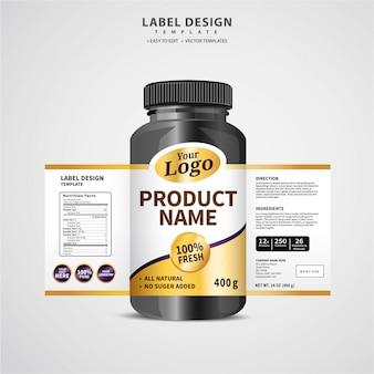 Etiqueta de la botella
