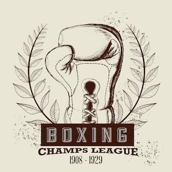 Etiqueta de boxeo