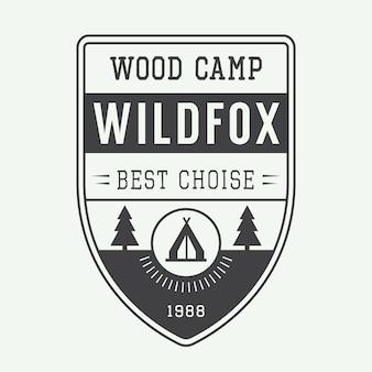 Etiqueta de camping, emblema