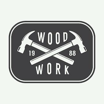 Etiqueta de carpintería, emblema