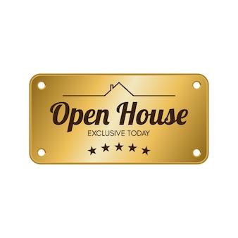 Etiqueta de casa abierta