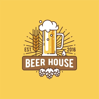 Etiqueta de la casa de cerveza