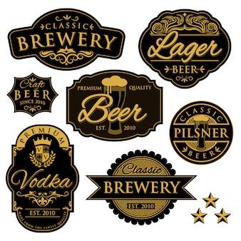 Etiqueta de la cervecería vintage