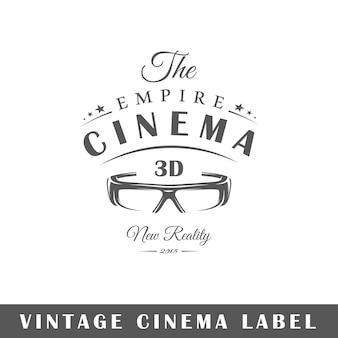 Etiqueta de cine aislada sobre fondo blanco