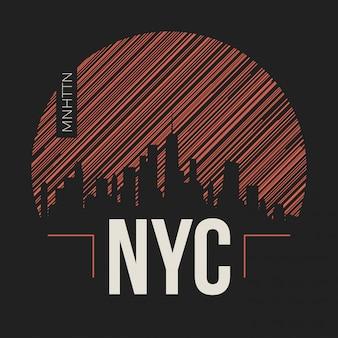 Etiqueta de la ciudad de nueva york