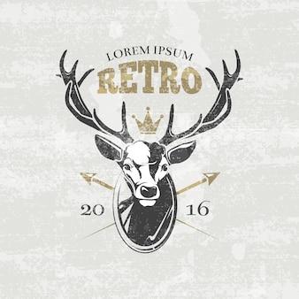 Etiqueta del club de cazadores de ciervos