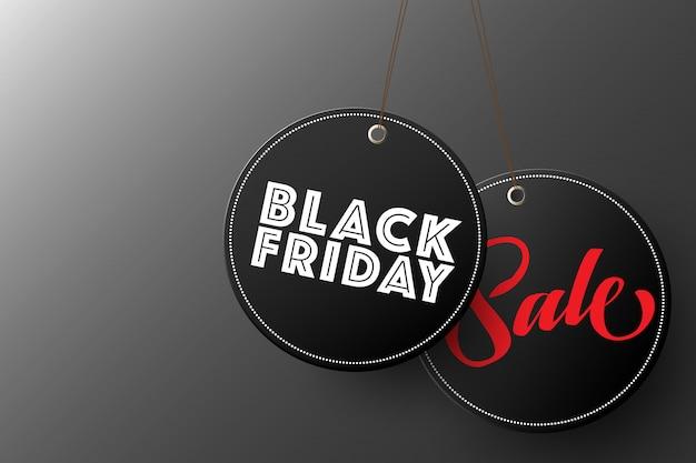 Etiqueta colgante de venta de viernes negro