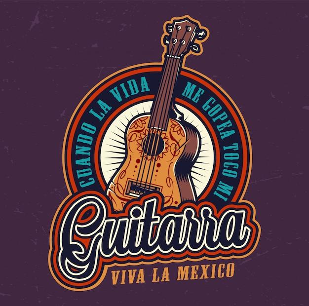 Etiqueta colorida del día mexicano de muertos