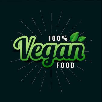 Etiqueta de comida verde vegana